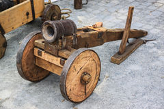 Medieval cannon. Royalty Free Stock Photography