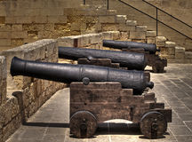 Medieval Cannons Stock Image