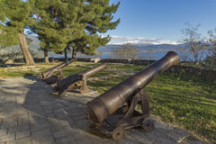 Medieval Cannons in the castle of Ioannina, Epirus Royalty Free Stock Image