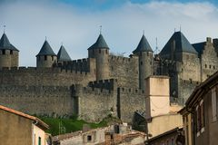 Medieval Carcassone town Stock Photos