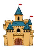 Medieval cartoon castle Royalty Free Stock Images