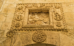 The medieval carving Royalty Free Stock Photography