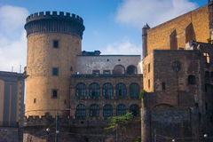 The medieval Castel Nuovo, Naples, Italy. The medieval Castel Nuovo located in Naples, Italy Royalty Free Stock Photography