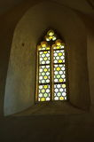 Medieval castel window Royalty Free Stock Images