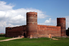 Medieval castle #1. Medieval brick castle in Ciechanow, Poland Stock Image