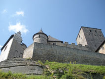 Medieval Castle. In the Czech Republic sitting on top of rocky cliff Royalty Free Stock Photography