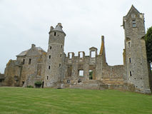 Medieval Castle. Ruins of a medieval Gratot castle in Normandy, France Stock Image