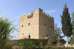Medieval castle. In Kolossi, Cyprus stock photography