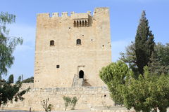 Medieval castle. In Kolossi, Cyprus stock images