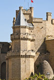 Medieval castle. Tower of the medieval castle in Olite, Navarra royalty free stock photography
