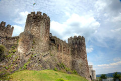 Medieval Castle. Castle in Conwy, North Wales Stock Image