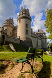 Medieval castle. Chateau de pierrefonds medieval castle in french Stock Photography