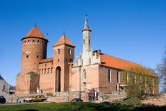 The medieval castle. General view of the medieval castle, day, solar weather Royalty Free Stock Photos
