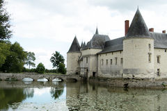 Medieval castle. Medieval castle in the south west of France in the Loire Valley Stock Photos