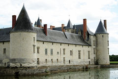 Medieval castle. Medieval castle in the south west of France in the Loire Valley Stock Image