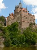 Medieval castle. On hill in Germany Stock Image