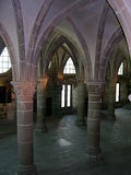 Medieval castle. Interior of medieval castle in France Royalty Free Stock Photos