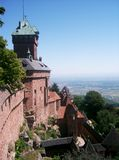 Medieval castle. The Haut-Koenigsbourg medieval castle in The French Alsace region Stock Images