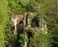 Medieval castle. Ruins in Leuven, Belgium Royalty Free Stock Image