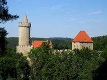 Medieval castle. Fortressed medieval castle in the Czech Republic royalty free stock images