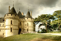 Medieval castle. Medieval Chaumont castle - Loire valley stock photos