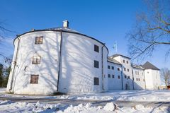 Medieval castle of Abo in the sunny February afternoon. Turku, Finland royalty free stock photography