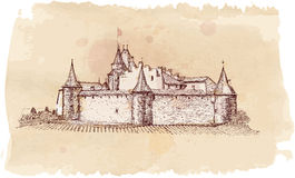 Medieval castle Aigle in Switzerland Royalty Free Stock Photos