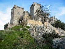 Medieval castle at Almodovar del Rio, Cordoba, Andalusia, Spain Stock Photography