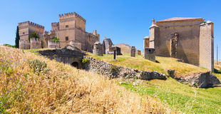 Medieval castle of Ampudia Royalty Free Stock Images