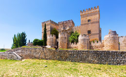 Medieval castle of Ampudia Royalty Free Stock Photos