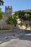 Medieval castle in an Andalusian village. Castle of San Marcos  in The Port of Saint Mary (El Puerto de Santa María), Cádiz, Spain Royalty Free Stock Photography