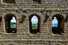 Medieval castle Andlau in Alsace Stock Images