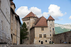 Medieval castle in Annecy town, France Royalty Free Stock Photos