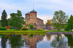 Medieval castle at autumn Stock Photos