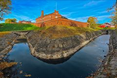 Medieval castle at autumn Royalty Free Stock Photos