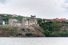 Medieval castle on the banks of the Danube Stock Images