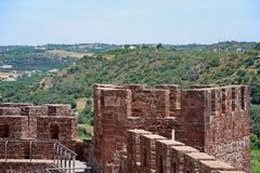 Free Medieval Castle Battlements And Tower, Silves, Portugal. Royalty Free Stock Photo - 115716055