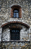 Old, medieval castle window in Bedzin, Poland. Old medieval castle in Bedzin, city of Upper Silesia in Poland royalty free stock photo