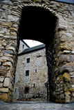 Old, medieval castle gate in Bedzin, Poland. Old medieval castle in Bedzin, city of Upper Silesia in Poland stock images