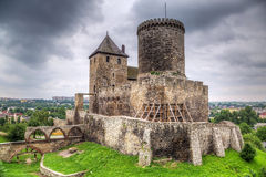 Medieval castle in Bedzin Stock Images