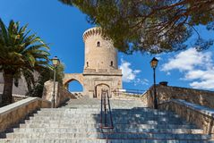 Medieval castle Bellver, Spain. royalty free stock photography