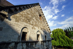 Medieval castle Bernstein on the top of hill Royalty Free Stock Photography
