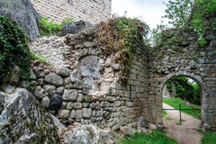 Medieval castle Bernstein on the top of hill Royalty Free Stock Images