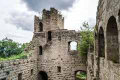 Medieval castle Bernstein on the top of hill Stock Photography