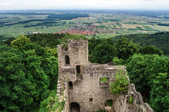 Medieval castle Bernstein on the top of hill Royalty Free Stock Image