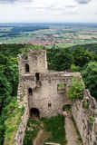 Medieval castle Bernstein on the top of hill Royalty Free Stock Photos