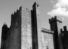 Medieval Castle Black White Royalty Free Stock Photo