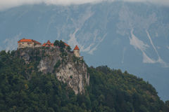 Medieval castle of Bled Stock Photography