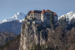 Medieval castle Bled, Slovenia Stock Photo