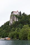 Medieval castle (Blejski Grad)  on the Bled lake (Blejsko Jezero. ) Stock Photography